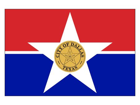 Flag of USA City of Dallas, Texas