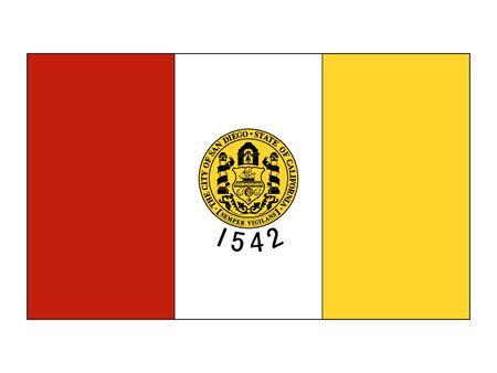 Flag of USA City of San Diego, California