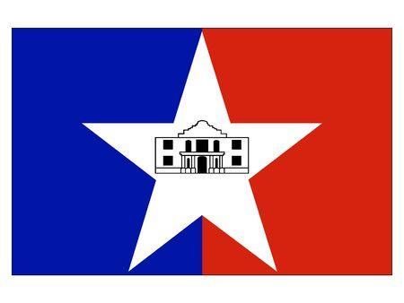 Flag of USA City of San Antonio, Texas