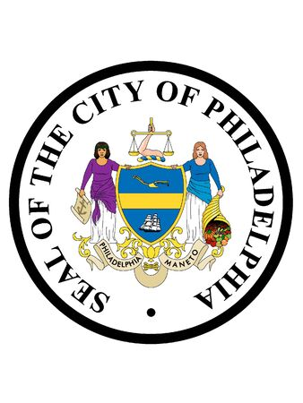 Seal of USA City of Philadelphia, Pennsylvania