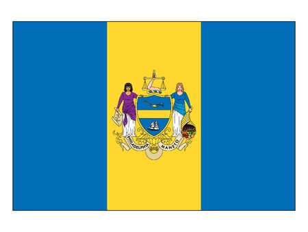 Flag of USA City of Philadelphia, Pennsylvania 向量圖像