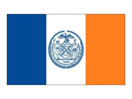 Flag of USA City of New York, New York
