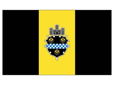 Flag of USA City of Pittsburgh, Pennsylvania