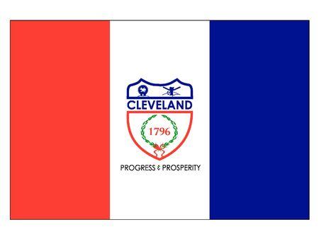 Flag of USA City of Cleveland, Ohio