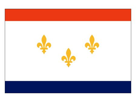 Flag of USA City of New Orleans, Louisiana