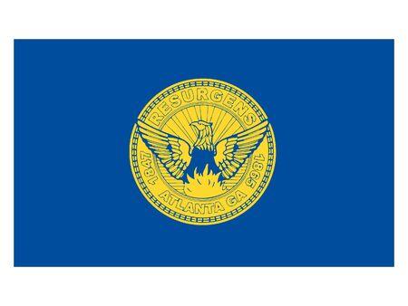 Flag of USA City of Atlanta, Georgia