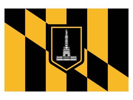 Flag of USA City of Baltimore, Maryland