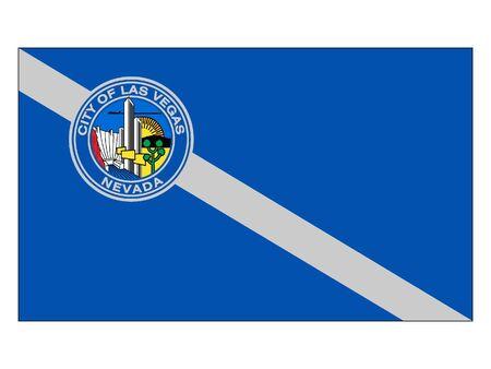 Flag of USA City of Las Vegas, Nevada