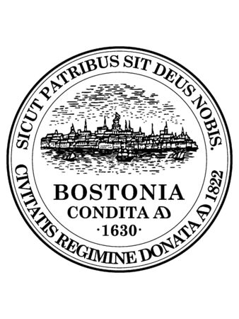 Seal of USA City of Boston, Massachusetts