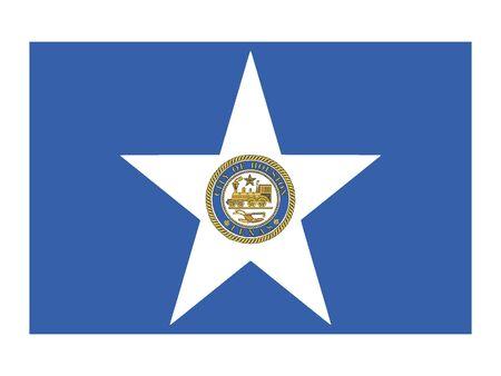 Flag of USA City of Houston, Texas