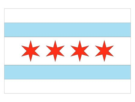 Flag of USA City of Chicago Illinois