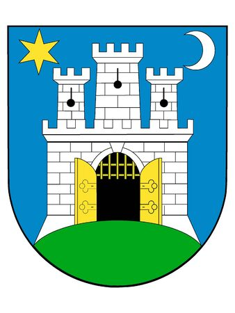Coat of Arms of the City of Zagreb, Croatia  イラスト・ベクター素材