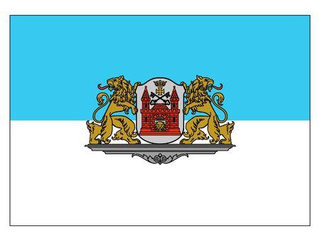Flag of the City of Riga, Latvia