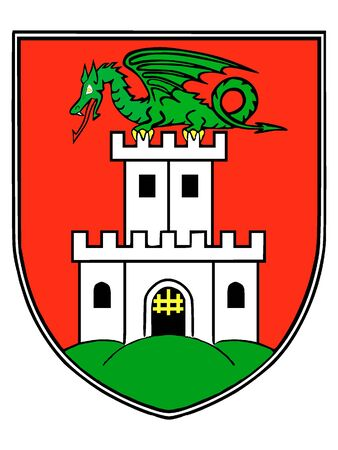 Coat of Arms of the City of Ljubljana, Slovenia
