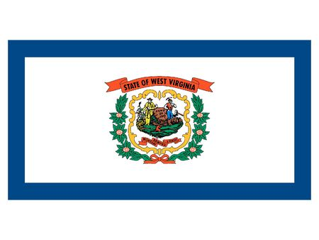 Flag of USA Federal State of West Virginia