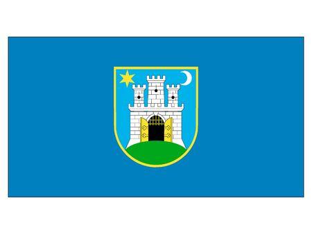 Flag of the City of Zagreb, Croatia  イラスト・ベクター素材