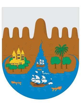 Coat of Arms of the City of Santiago de Cali, Colombia