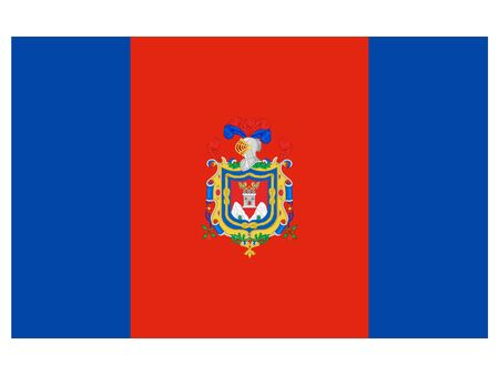 Flag of the City of Quito, Ecuador Illustration