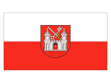 Flag of the Estonian City of Tartu, Estonia
