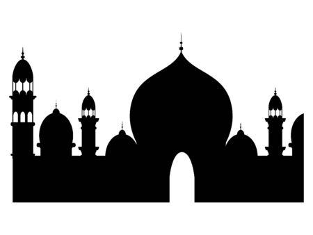 Muslim Mosque Black Silhouette