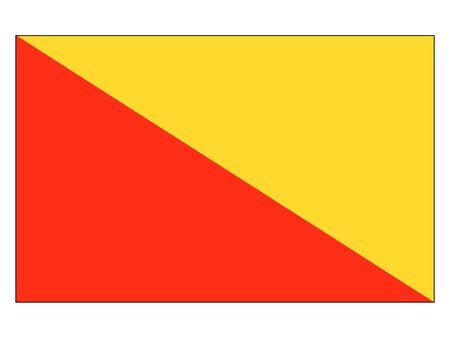 Flag of the Italian City of Palermo, Italy