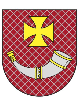 Coat of Arms of Latvian City of Ventspils, Latvia