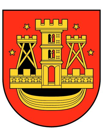 Coat of Arms of Lithuanian City of Klaipeda, Lithuania