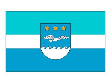 Flag of Latvian City of Jurmala,  Latvia Stock Illustratie