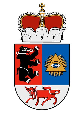 Coat of Arms of Lithuanian City of Siauliai, Lithuania