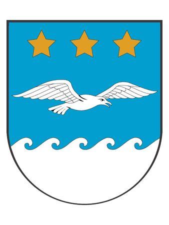 Coat of Arms of Latvian City of Jurmala, Latvia