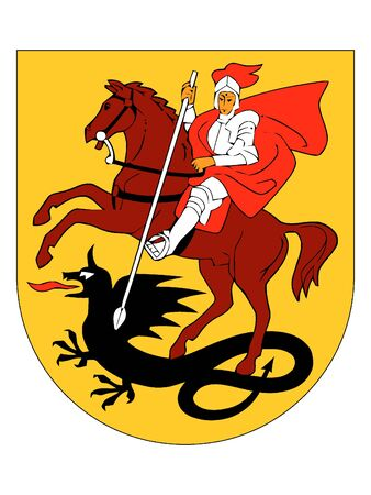 Coat of Arms of Lithuanian City of Mariupol, Lithuania 일러스트