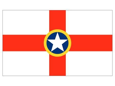 Flag of the Maltese City of Mosta, Malta 일러스트