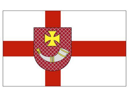 Flag of Latvian City of Ventspils, Latvia