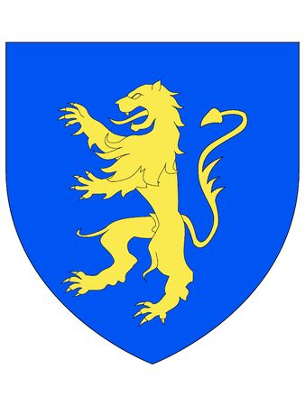 Coat of Arms of Luxembourgian City of Differdange, Luxembourg