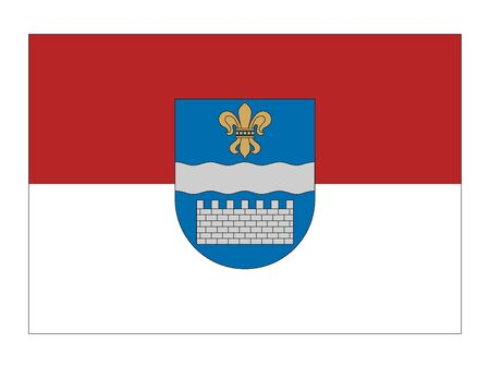 Flag of Latvian City of Daugavpils, Latvia 일러스트