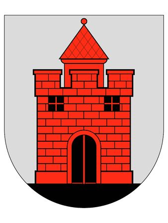 Coat of Arms of Lithuanian City of Panevezys, Lithuania Stok Fotoğraf - 133011558