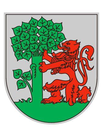 Coat of Arms of Latvian City of Liepaja, Latvia Stok Fotoğraf - 133011560
