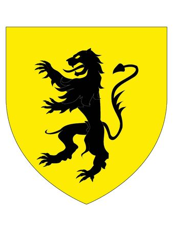 Coat of Arms of Luxembourgian City of Dudelange, Luxembourg