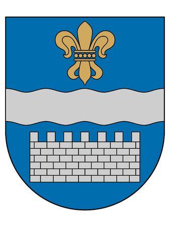 Coat of Arms of Latvian City of Daugavpils, Latvia 일러스트
