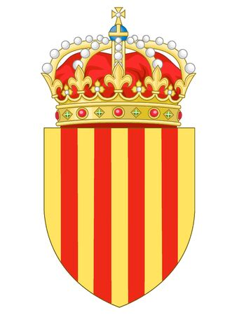 Coat of Arms of the Spanish Autonomous Community of Catalonia Иллюстрация
