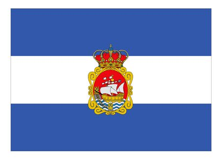 Flag of the Spanish City of Aviles