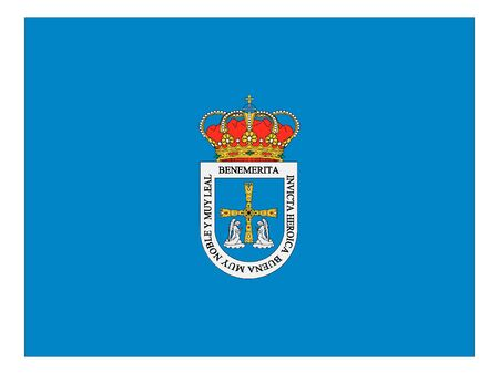 Flag of the Spanish City of Oviedo Çizim