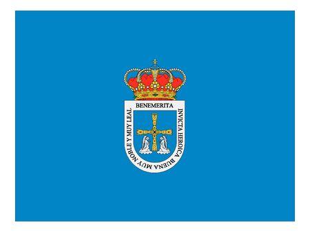 Flag of the Spanish City of Oviedo Illustration