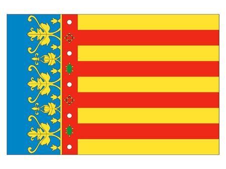 Flag of the Spanish City of Valencia