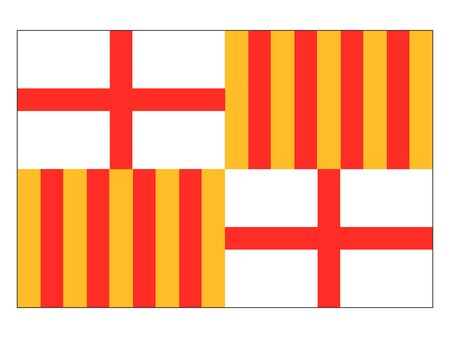 Flag of the Spanish City of Barcelona