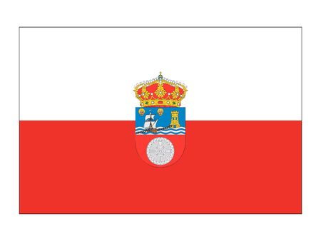 Flag of the Spanish Autonomous Community of Cantabria Иллюстрация