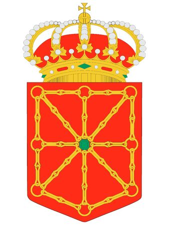 Coat of Arms of the Spanish Autonomous Chartered Community of Navarre Illustration