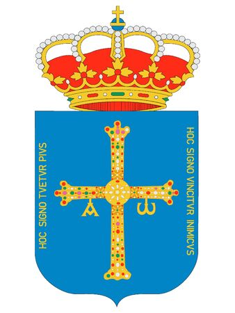 Coat of Arms of the Spanish Autonomous Community of Principality of Asturias