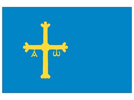 Flag of the Spanish Autonomous Community of Principality of Asturias