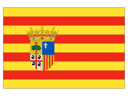Flag of the Spanish Autonomous Community of Aragon